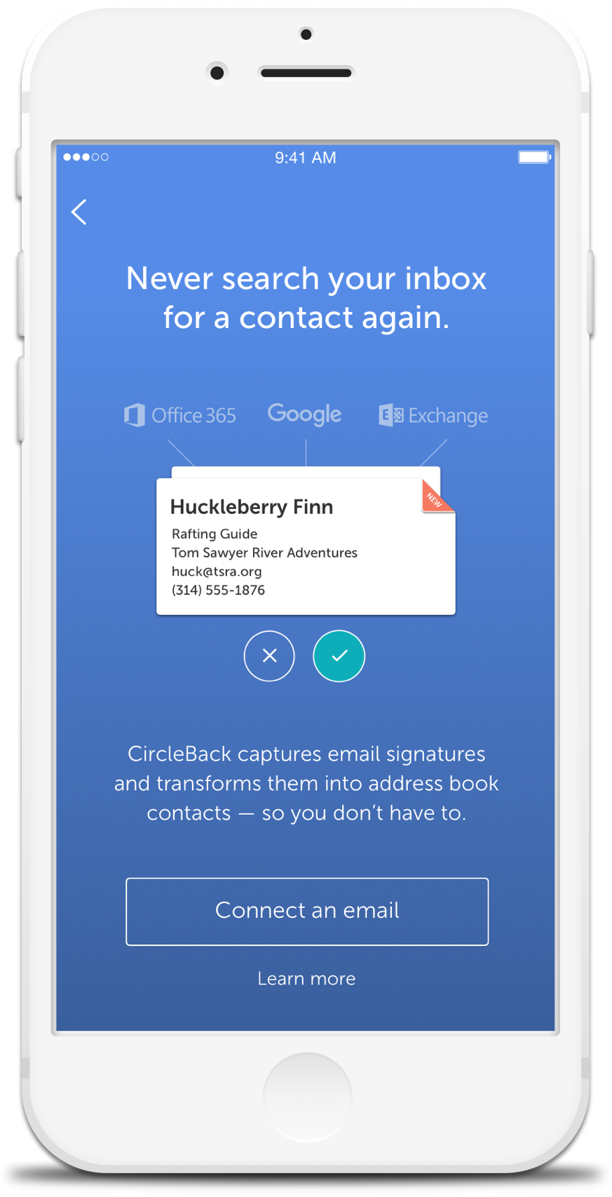 CircleBack - Email & Signature Captures with Gmail, Office 365 & Exchange