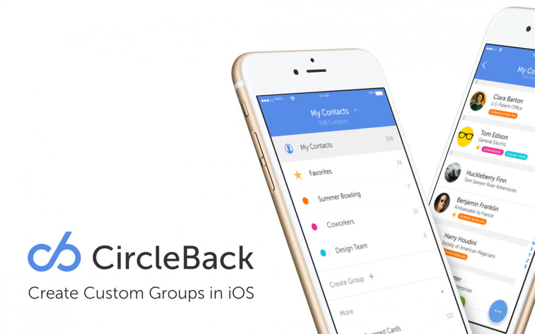 Custom Groups Have Come to CircleBack!