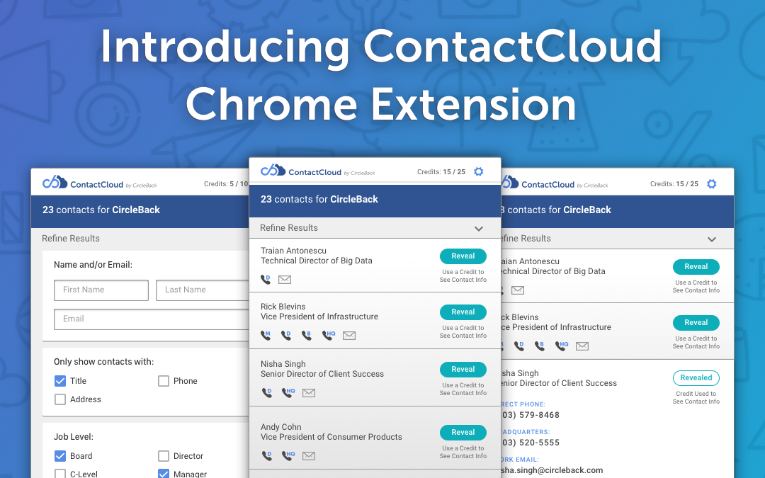 Introducing ContactCloud Chrome Extension